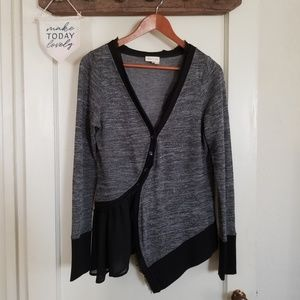 Anthropologie Meadow Rue Black and Gray Cardi